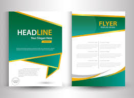 tamplate flyer template design with green and white color free vector in