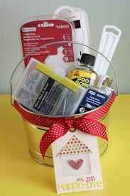 cute idea for a new homeowner housewarming diy gift basket via just make stuff do