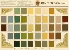 Sears Paint Color Chart Historic Paint Colors