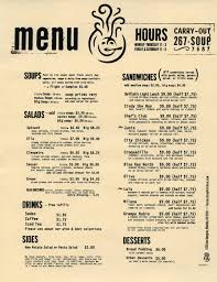 Soup Kitchen Menu March 2014 Lizmdean710