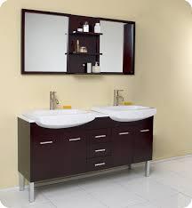 fresca 59 espresso modern double sink bathroom vanity with mirror pertaining to elegant home modern double sink vanity prepare
