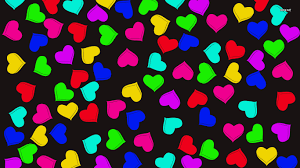 colorful heart wallpapers.  Wallpapers Colorful Hearts Wallpaper 1366x768 In Heart Wallpapers