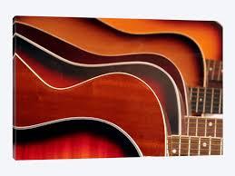 acoustic guitar 1 piece canvas wall art  on guitar canvas wall art red with acoustic guitar canvas print icanvas