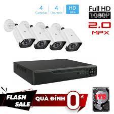 Bộ KIT AHD Camera 4 kênh Full HD - Trọn bộ 4 mắt đủ phụ kiện - Hệ thống camera  giám sát