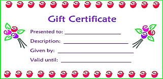 New Printable Blank Gift Certificate Template Free Basic