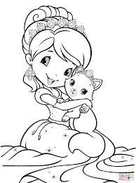 Small Picture Strawberry Shortcake Mermaid coloring page Free Printable