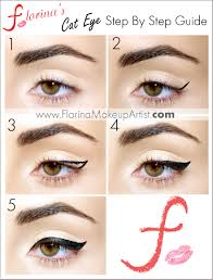 cat eye make me up eyes and easy way to do eyeliner