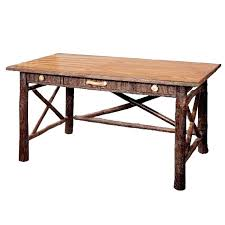 old wood desk hickory big ranch w top cherry accessories old wood desk