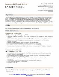 truck driving resumes commercial truck driver resume samples qwikresume