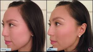blush before and after. before:after - left blush before and after 0