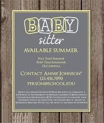 Babysitter Flyer Maker Babysitting Template Maker Magdalene Project Org