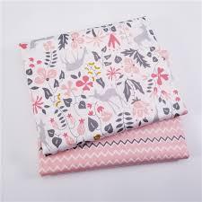 <b>2pcs</b>/<b>lot</b> 100% Cotton Fabric Deer Printed <b>Patchwork</b> Twill Cloth For ...