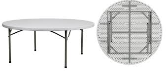 amazing of 60 inch round folding table with plastic folding round tables