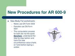 Da Form 5500 Chart Weight Control Program Ar 1 Sep 06 Ppt Download