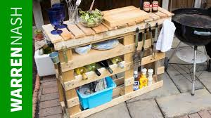 pallet bbq station make the best outdoor grill area easy diy by warren nash