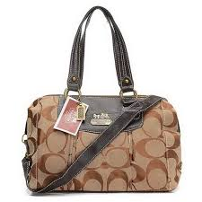 ... Coach Legacy Logo Signature Medium Khaki Luggage Bags EHJ ...
