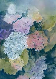 Hydrangea Heaven Painting by Polly Barrett