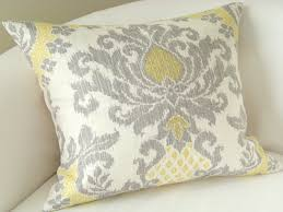 Living Room: Sofa Pillows Unique Gray Yellow Pillow Cover Ikat Pillow  Decorative Throw Pillows -