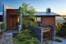 Exterior:Rustic Eco Friendly Home With Log Furniture And Stone Ideas  Natural Terraced Home Eco