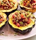 acorn squash stuffed with curried meat