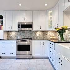 Kitchen Backsplash Ideas For White Cabinets Black Countertops Home