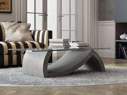 grey coffee table with glass top and