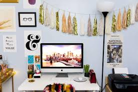 tour stylish office los. Home Office An Organized Workspace Is Accentuated By Tassel Garland And A Gallery Wall Tour Stylish Los O