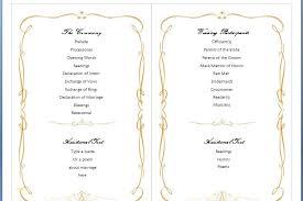 Free Printable Wedding Ceremony Programs Free Wedding Program Templates Word Luxury 7 Best Of Free Printable