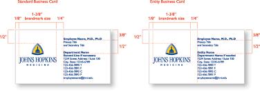 Johns Hopkins Medicine Standard Business Cards