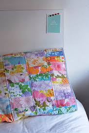 Look What I Made: Scrappy Vintage Sheet Quilted Pillow Case ... & Look What I Made: Scrappy Vintage Sheet Quilted Pillow Case Adamdwight.com