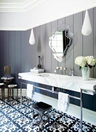 bathroom crown molding. Black And White Modern Bathroom Via @thouswellblog Crown Molding