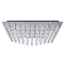 galaxy k9 crystal chrome flush ceiling light free delivery