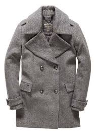 superdry classic peacoat coats grey herringbone women s clothing superdry superdry coats