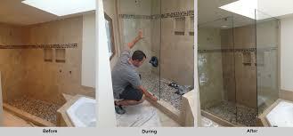 shower door after installation