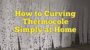 Thermocol Pillar Design How To Cutting Thermocol Srtight Design At Home Ii Thermocol Curving Ii Bhaskar World