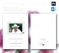 Funeral Remembrance Cards Memorial Prayer Cards Template Templates Wordpress Free