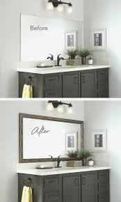 How To Put A Frame Around A Bathroom Mirror - Image Bathroom 2017