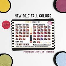 Lipsense Color Chart Lipsense 50 Colors Lipsense Color Palette 2017 Fall Colors Lipsense Color Display Color Chart A4 Size Printable