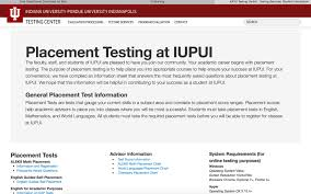 Placement Test Scores Chart Placement Testing Iupui Indianapolis One Iu