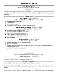 baker cv baker cv examples good sample baker resume reference of sample