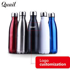 pagsusuri ng quail sports cycling camping water bottle stainless steel double wall vacuum insulation water bottle free with your text logo pinakabago