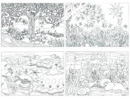Cozy Inspiration Nature Coloring Pages For Adults Landscapes