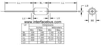 Diode Equivalent Chart Diode Case Package Do 41 Through Hole Body Style Package