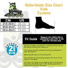 Speed Skate Size Chart Amazon Com Rollerblade Cyclone Kids Unisex Size