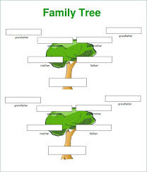 Family Tree Example Examples A School Project Template For – Ozeano