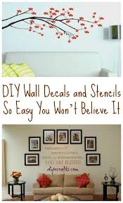painting diy wall decals and stencils so easy you wont believe it diy wall stencils sayings for