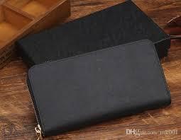 hot fashion women famous brand m wallets pu leather luxury designer wrist wallet single zipper clutch girl purse 20 10 2 5cm branded wallets for men