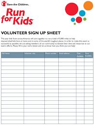 Name Email Phone Number Sheet Volunteer Sign Up Sheet Run For Kids Download Printable Pdf
