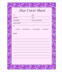 Fax Cover Letter Pdf Fax Cover Sheet 13 Free Word Pdf Documents