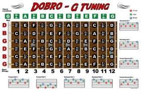 Dobro Chord Chart Dobro Fretboard Chart Resonator Guitar Poster G Tuning In
